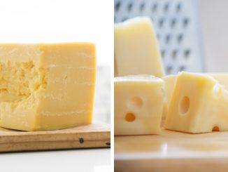 Foto mostra queijo cheddar